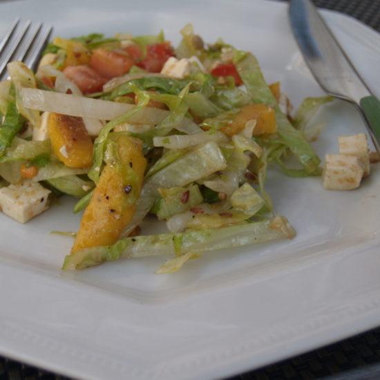 salade met mango en feta