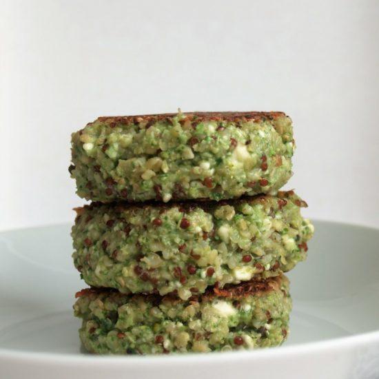 quinoa broccoli burger