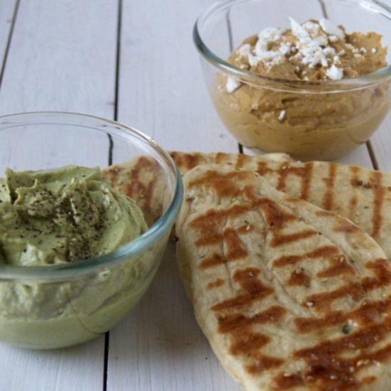 avocado humus / paprika dip