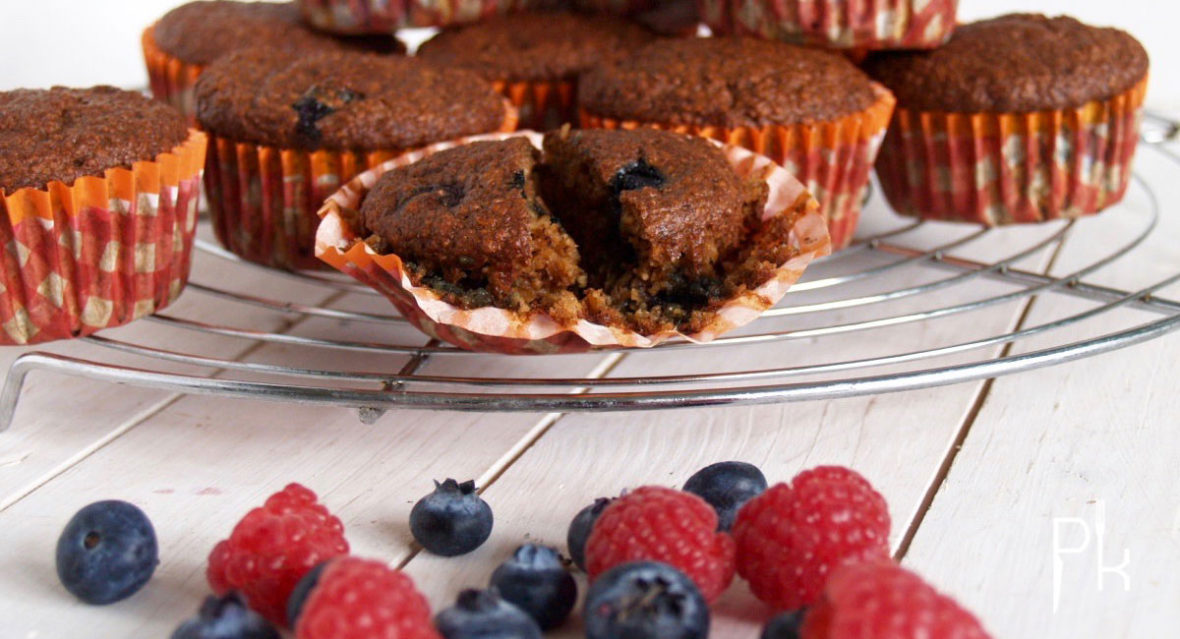 havermout muffin met rood fruit