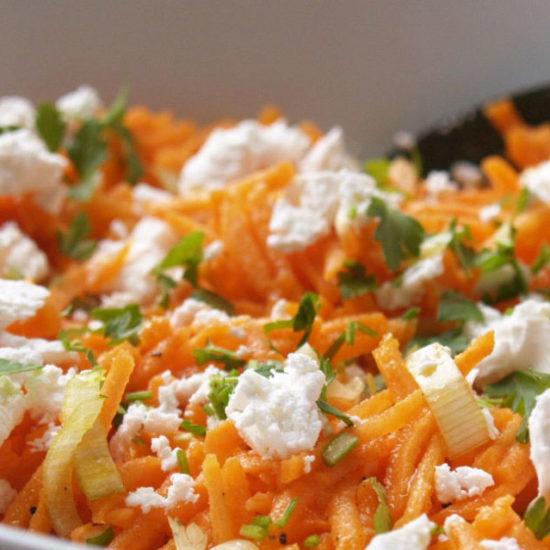 wortel salade met feta
