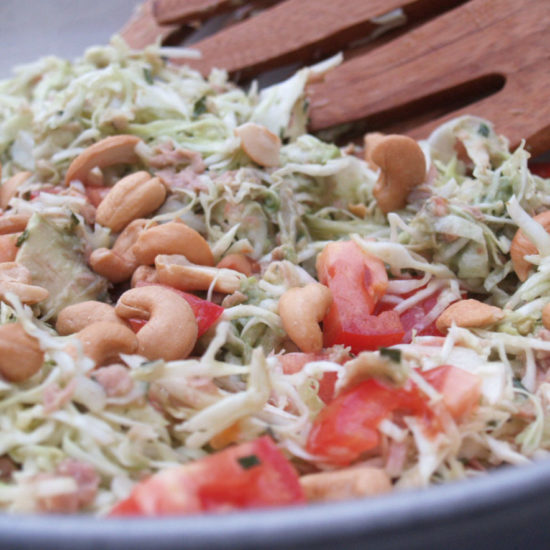 spitskool salade met tonijn