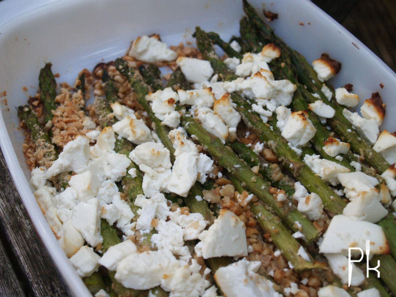 asperges met feta en noten