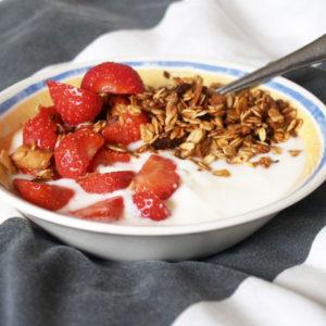 cruesli met yoghurt