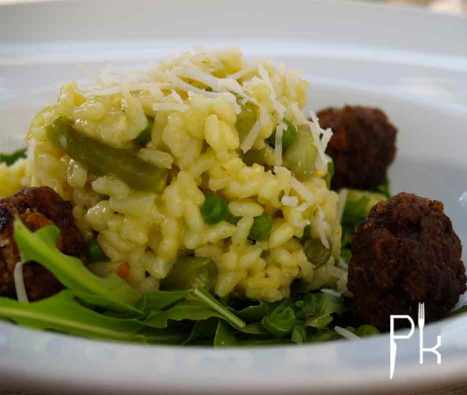 risotto met boontjes en erwten