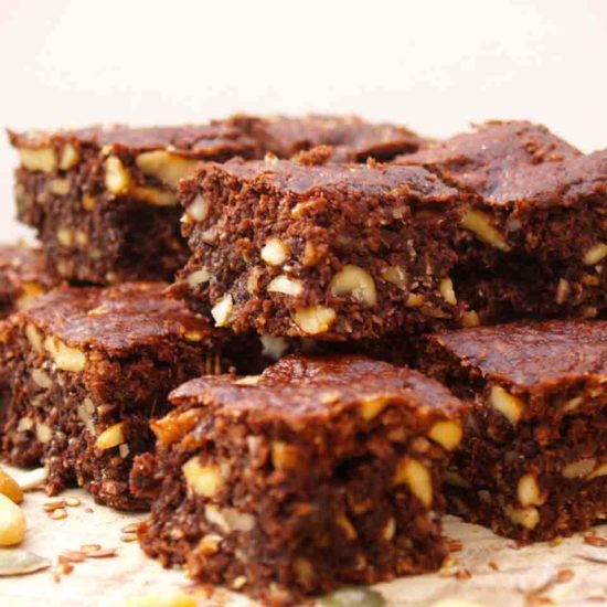 choco brownie met noten zaden en pitten