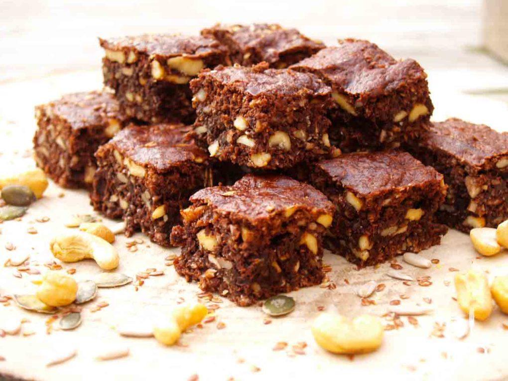 choco brownie met noten zaden en pitten