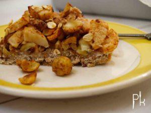 vegan appeltaartje met noten