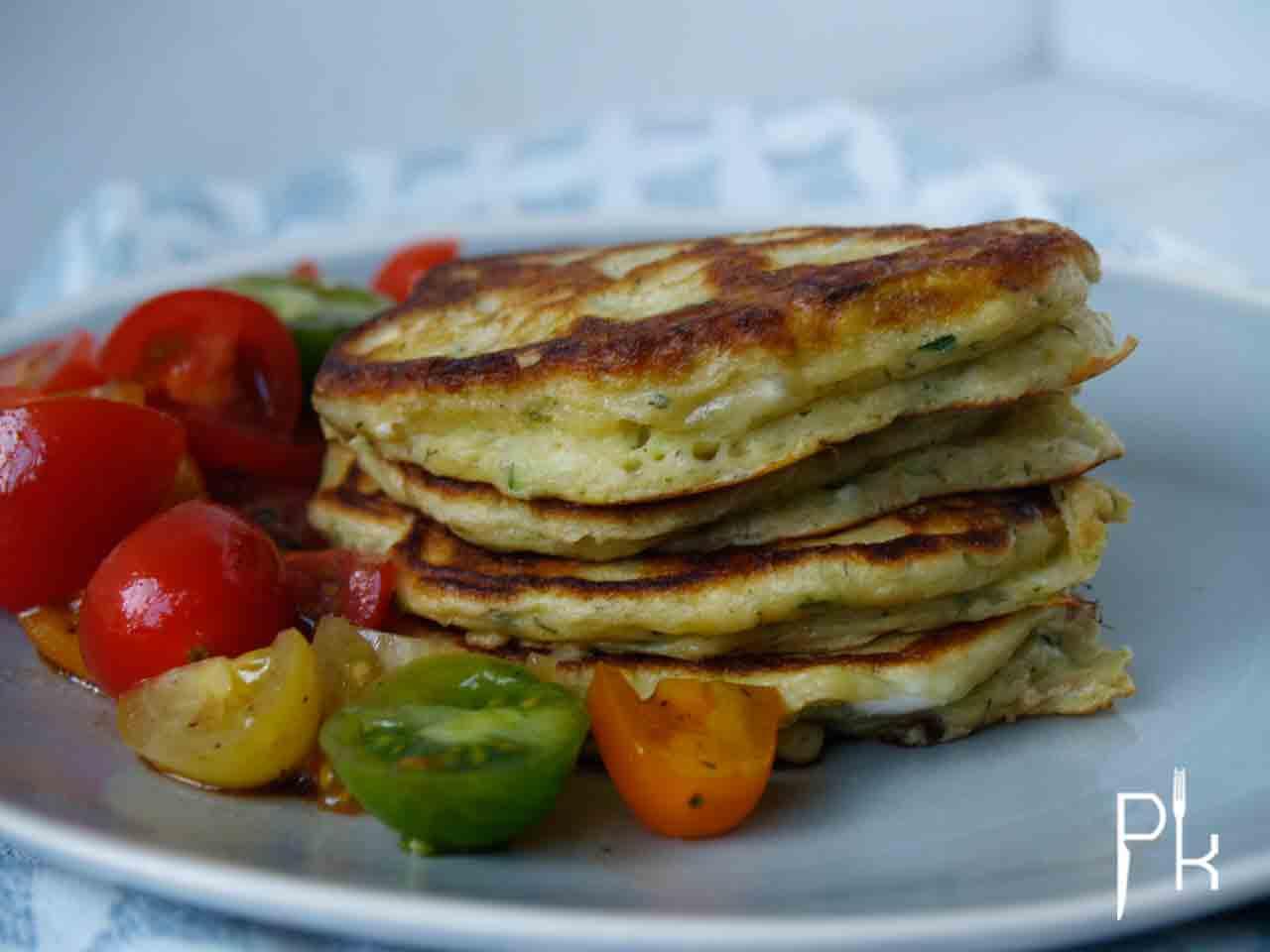 courgette pannenkoeken drie in de pan