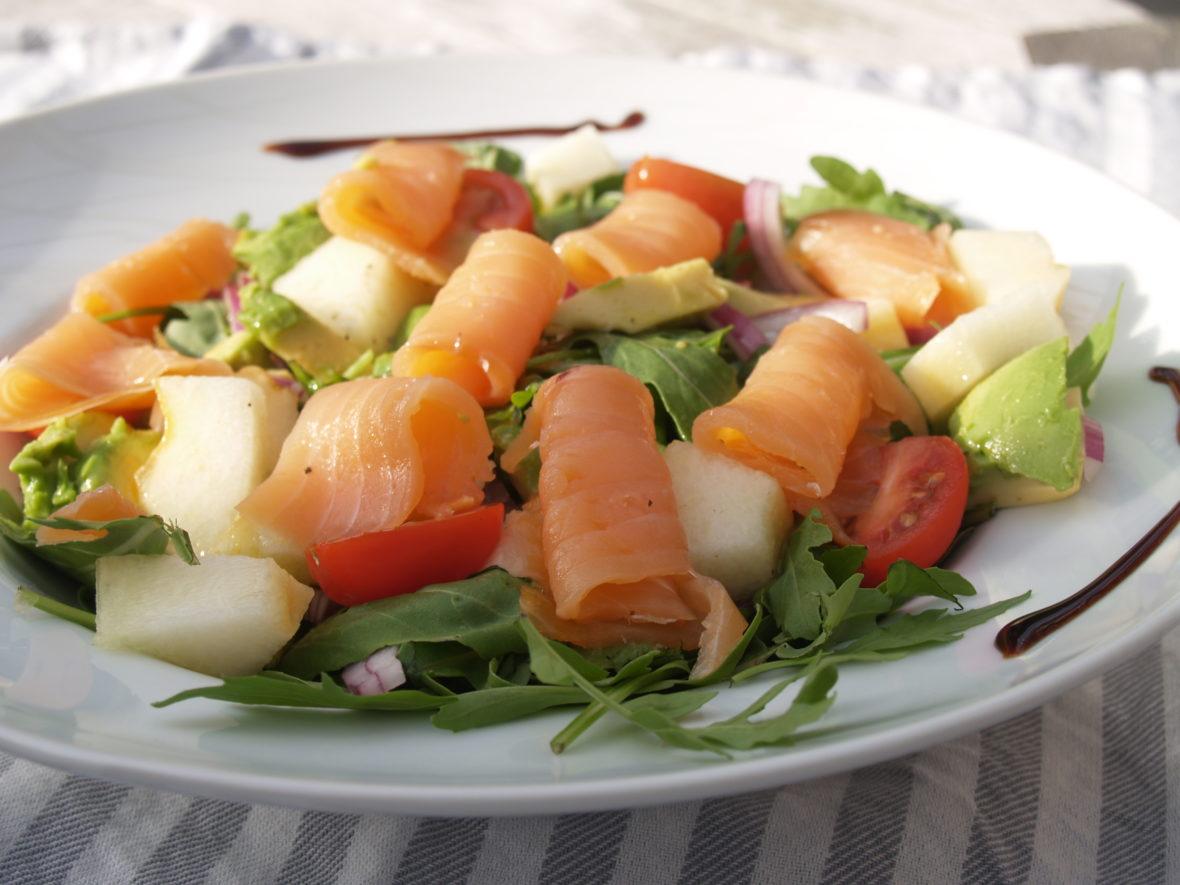 zalm rucola salade