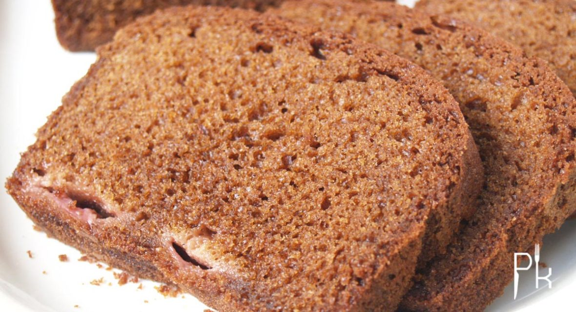 suikervrije cake met aardbei