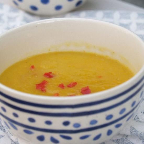 gele courgette soep