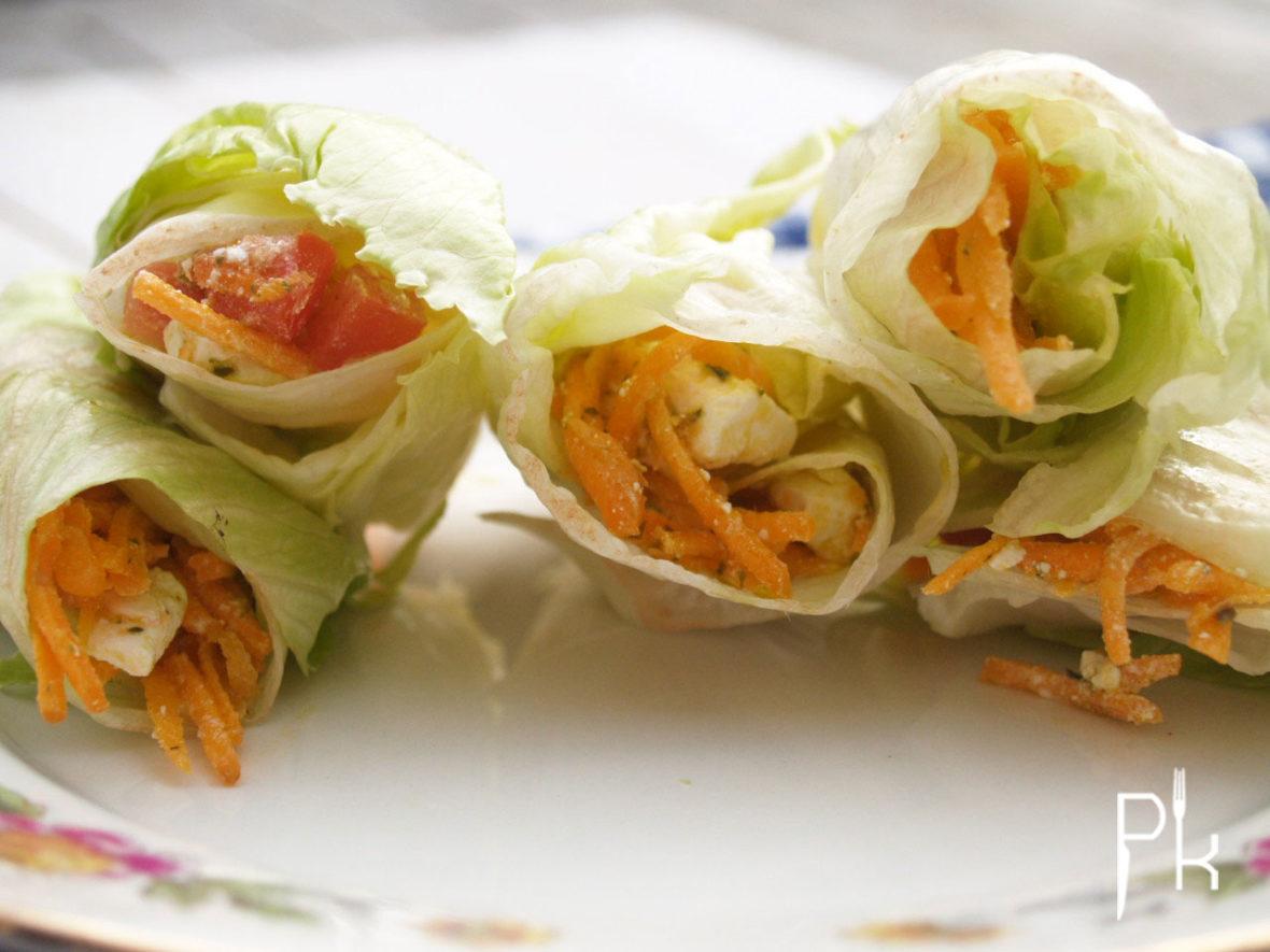 sla wrap met wortelsalade
