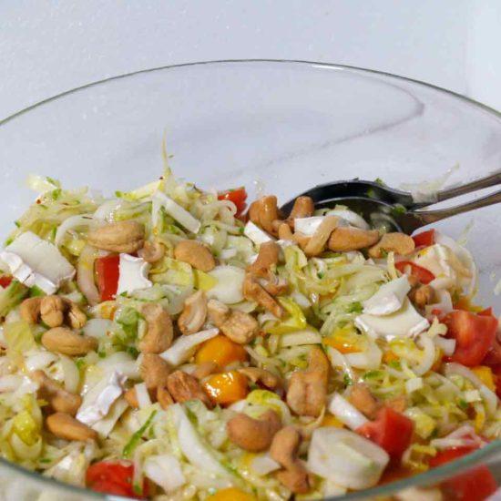 rijk gevulde witlof salade