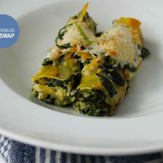 cannelloni met zalm en spinazie