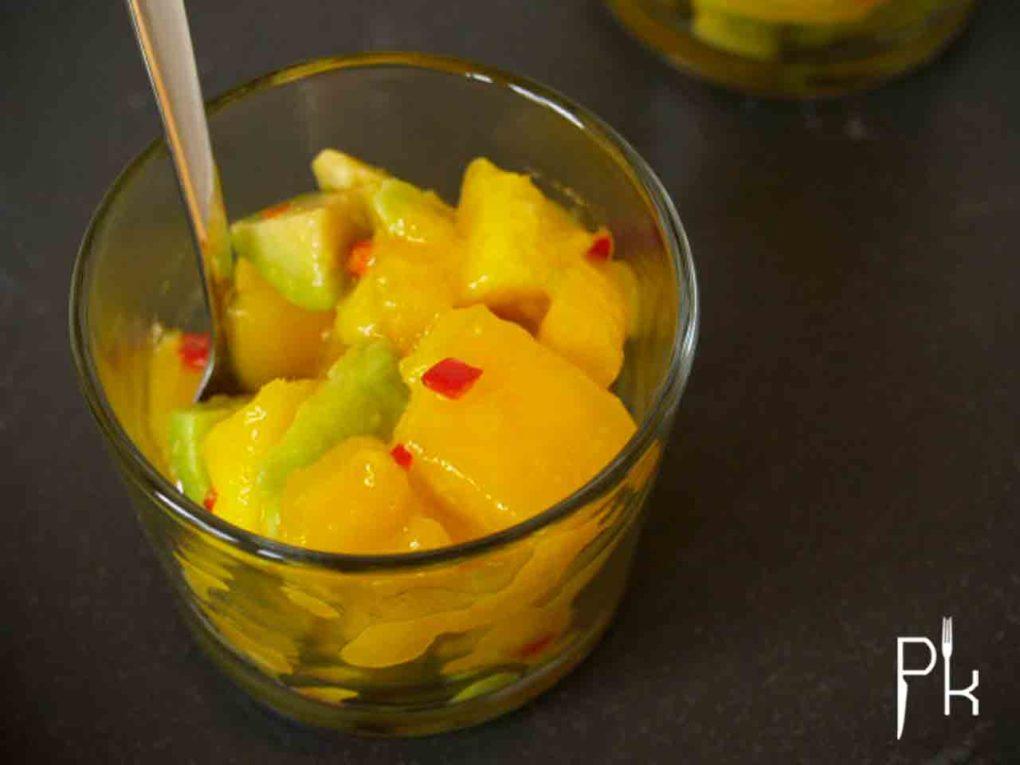 avocado mango hapje