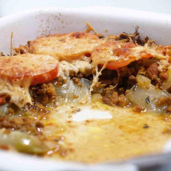 witlof met gehakt en tomaat