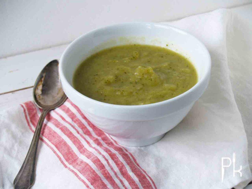courgette knolselderij soep
