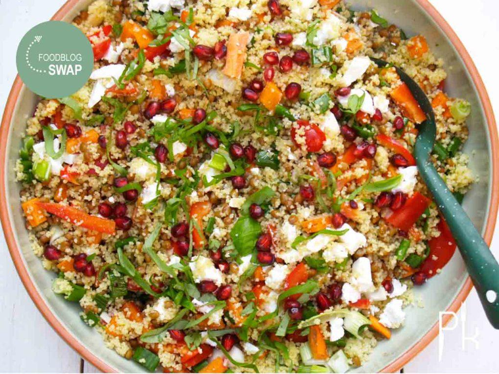 couscous salade met linzen