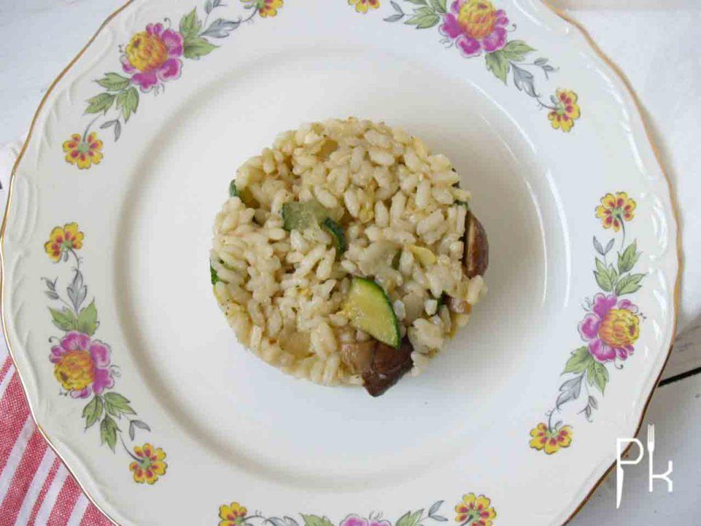 risotto met courgette en champignons