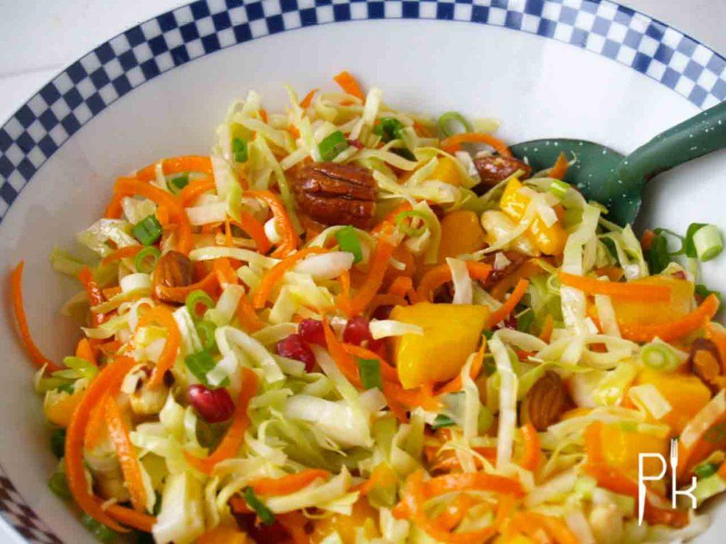 spitskool salade met mango