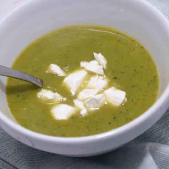 doperwten courgette soep