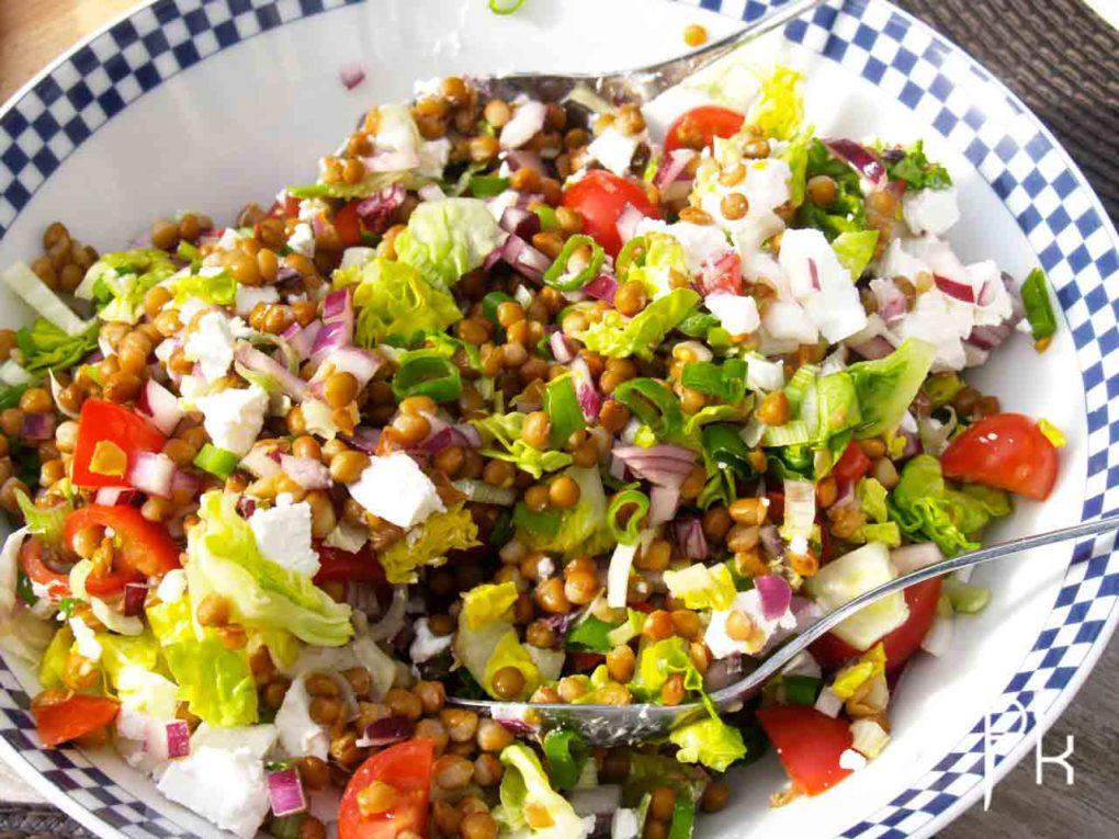 linzen salade vegetarisch Pienskeuken