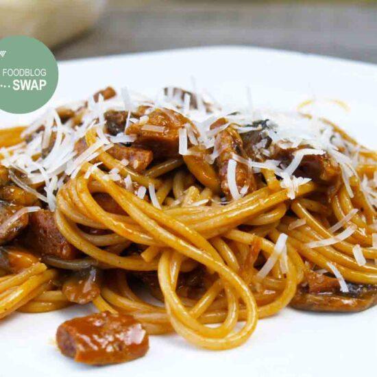 vega pasta carbonara champignons peasmaker